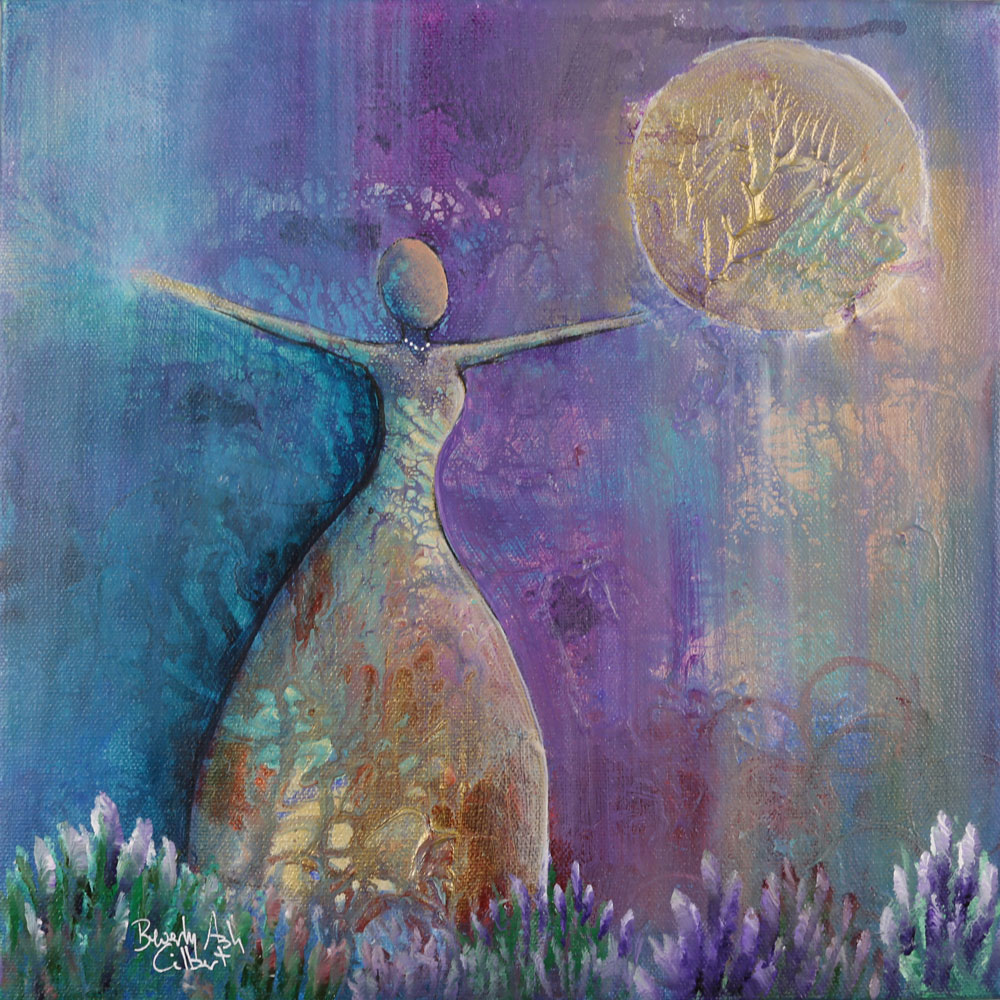 Golden Moon - Dance With Color Painting Collection - Beverly Ash Gilbert