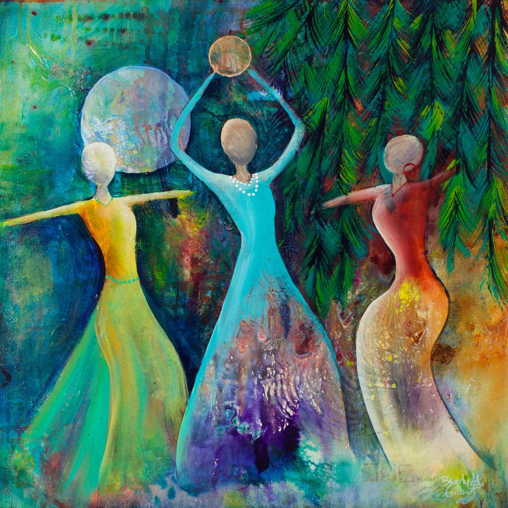 Hanging A Star In The Evening Sky - Dance With Color Painting Collection - Beverly Ash Gilbert