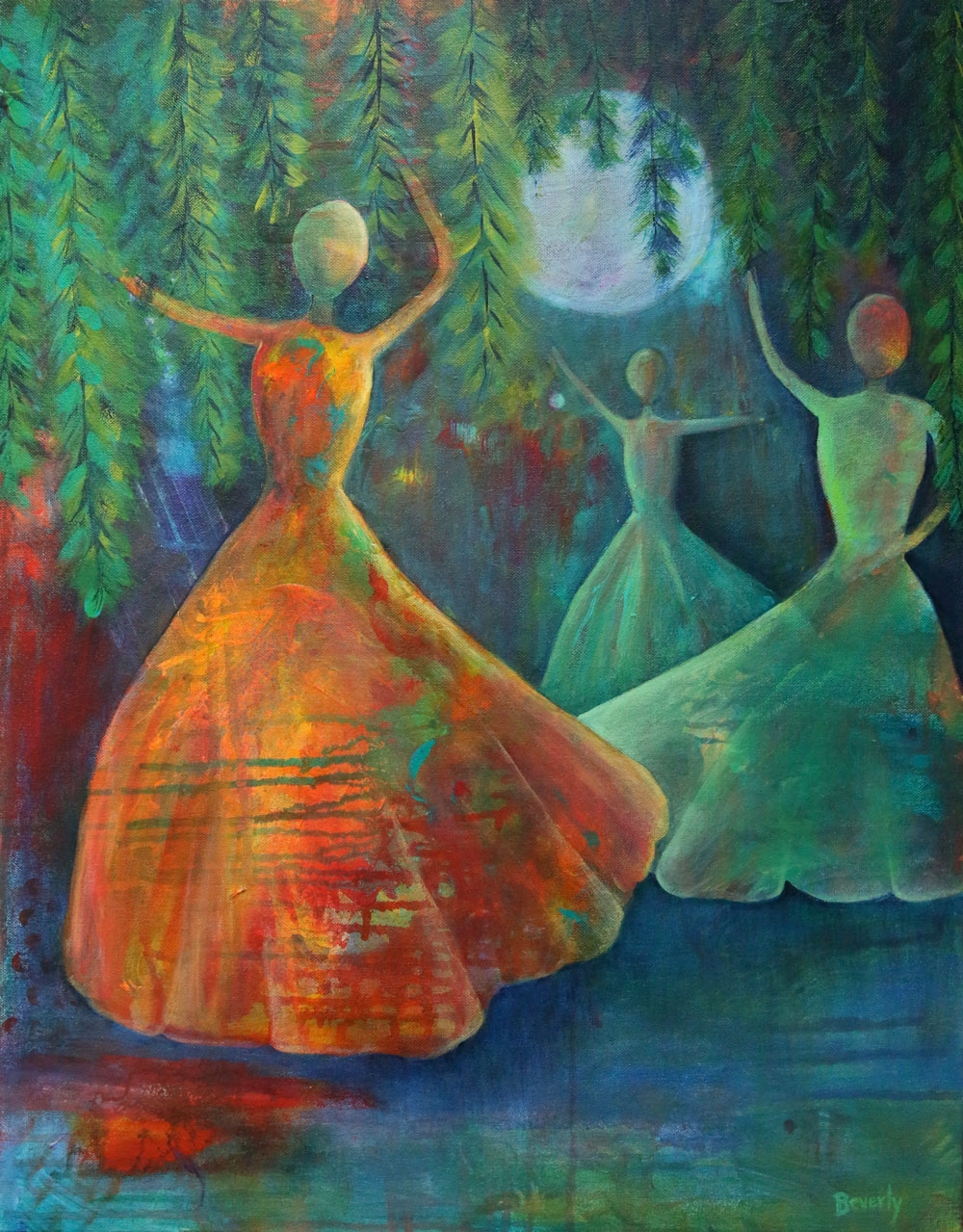 Moonlight Serenade - Dance With Color Painting Collection - Beverly Ash Gilbert