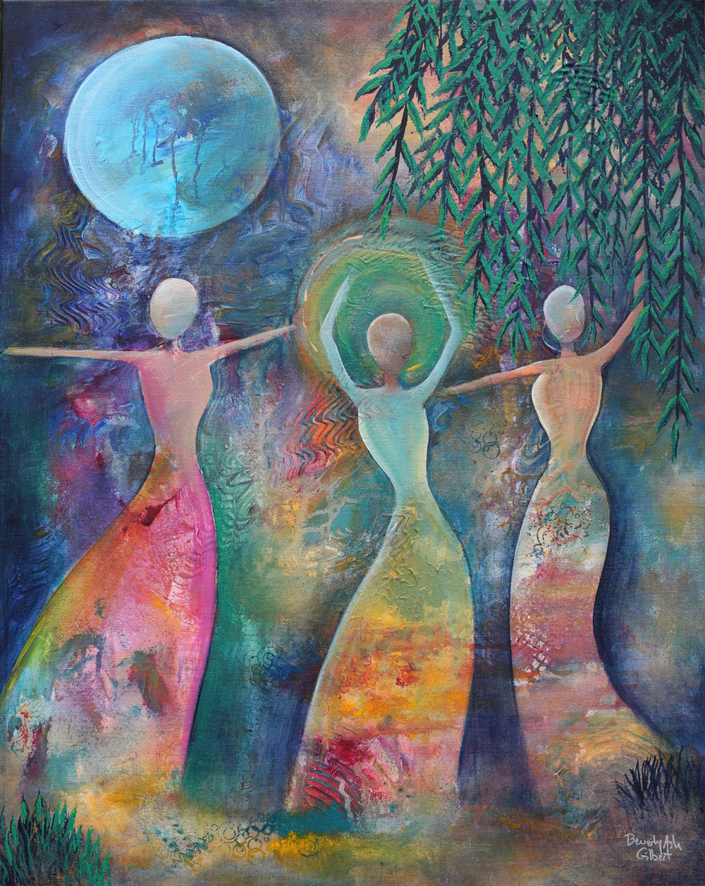 Under A Blue Moon - Dance With Color Painting Collection - Beverly Ash Gilbert