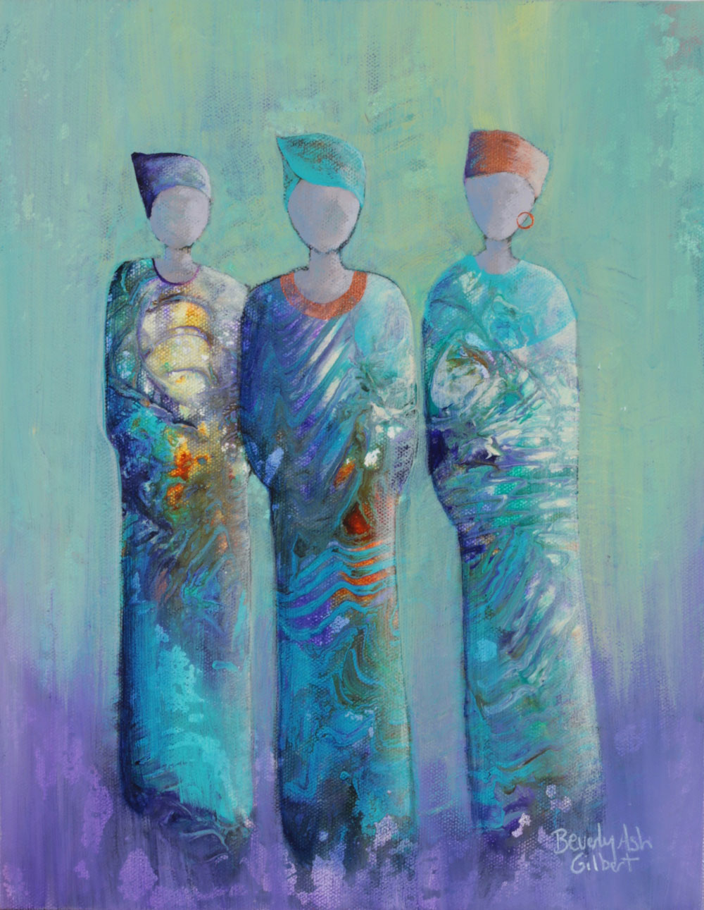 Quiet Elegance - It Takes A Village Painting Collection - Beverly Ash Gilbert