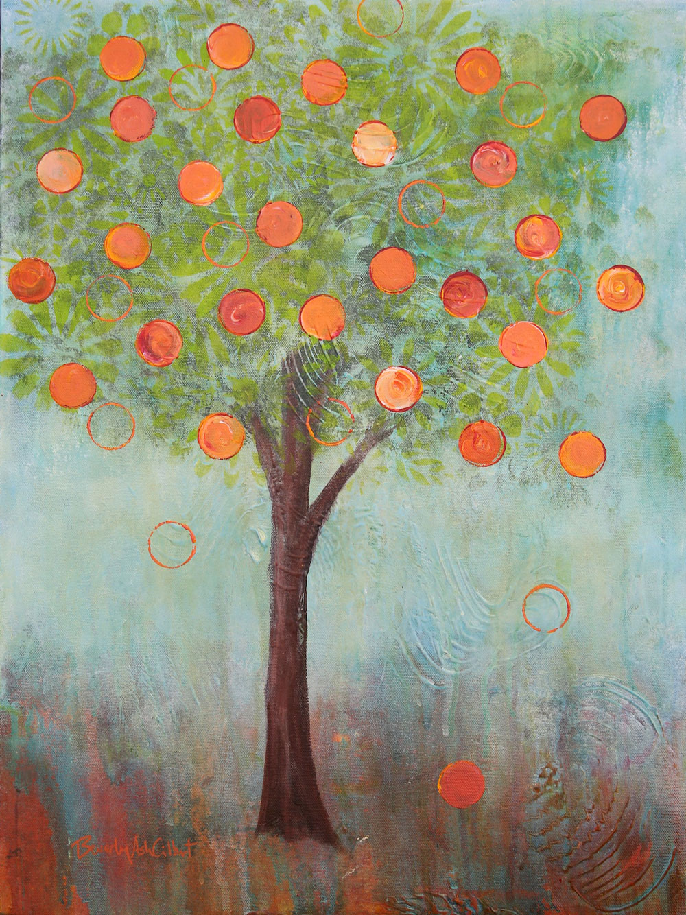 Apricot Tree - Dreamy Landscapes Painting Collection - Beverly Ash Gilbert