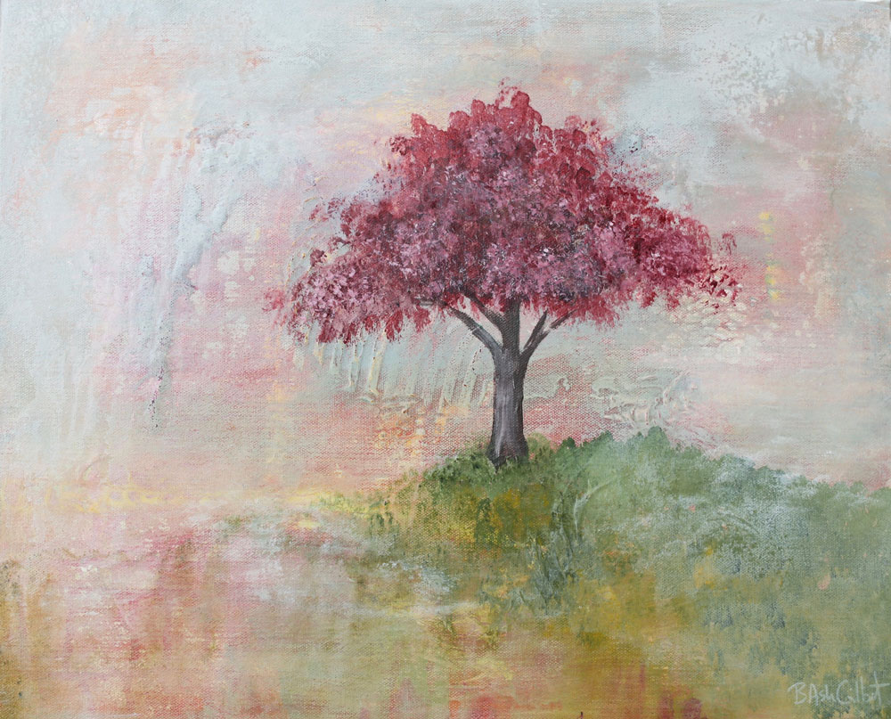 Flowering Plum - Dreamy Landscapes Painting Collection - Beverly Ash Gilbert