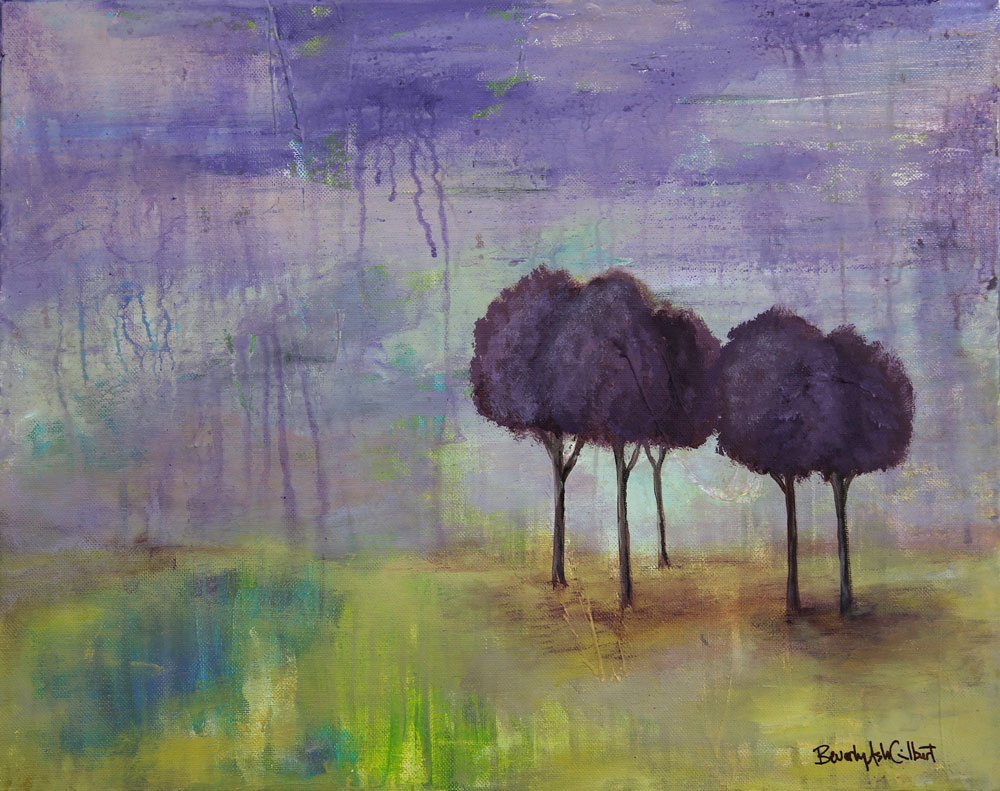 Purple Rain - Dreamy Landscapes Painting Collection - Beverly Ash Gilbert