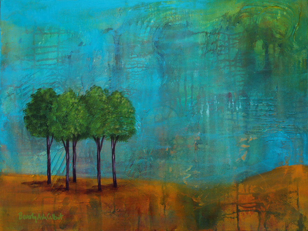 Teal Sky - Dreamy Landscapes Painting Collection - Beverly Ash Gilbert