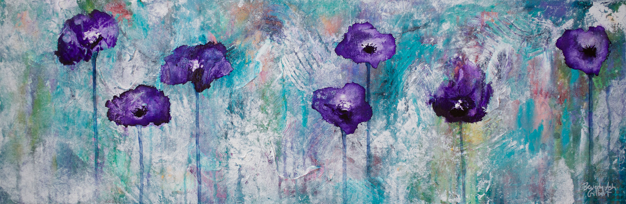 Carolyn's Flower Garden - Blooms Painting Collection - Beverly Ash Gilbert