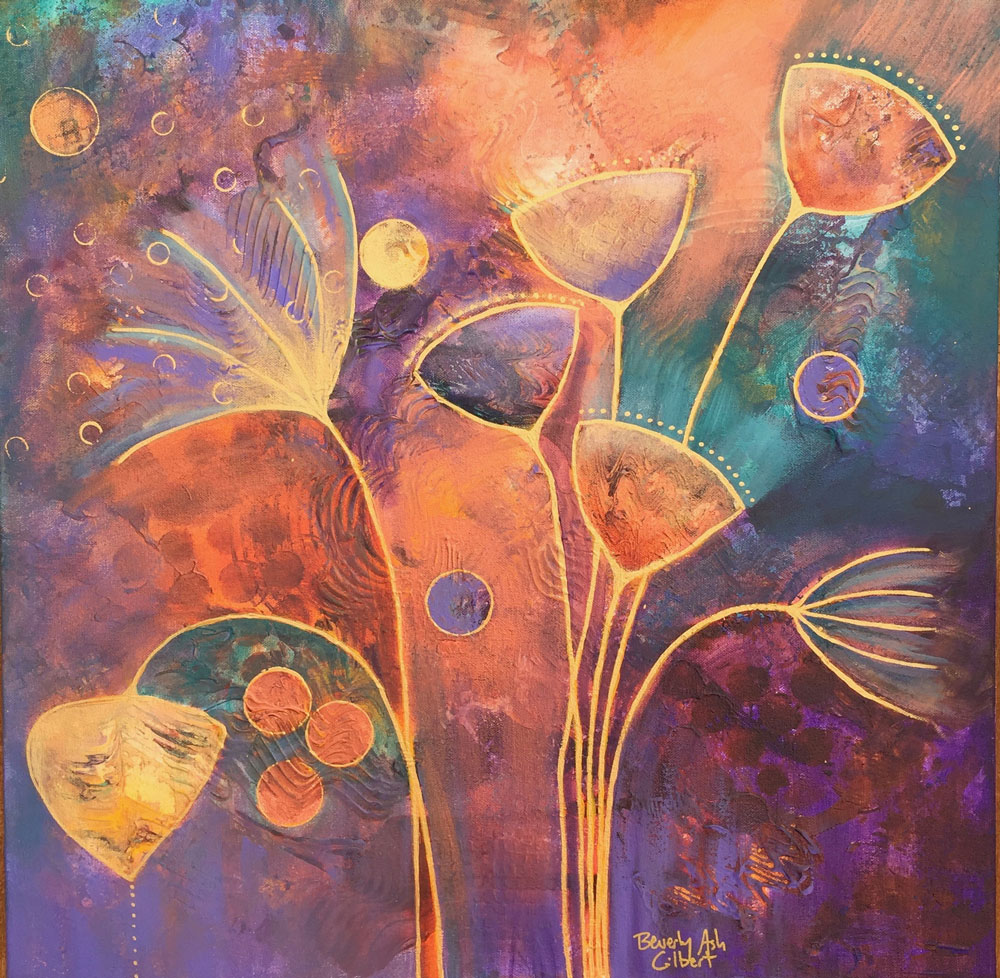 Flower Batik - Blooms Painting Collection - Beverly Ash Gilbert