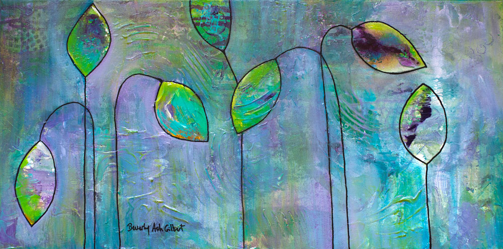 Purple Poppies - Blooms Painting Collection - Beverly Ash Gilbert