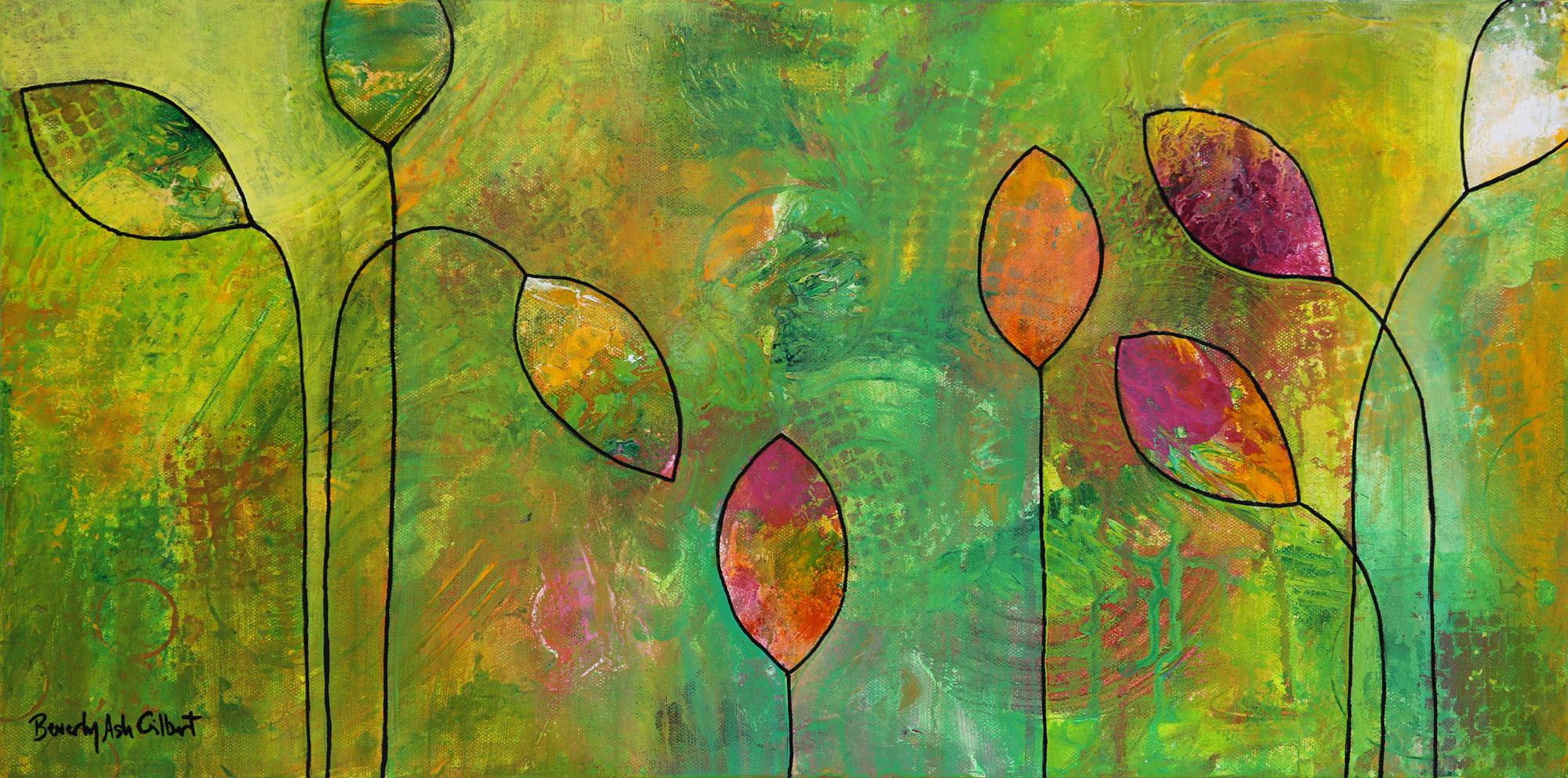 Poppies in a Green Field