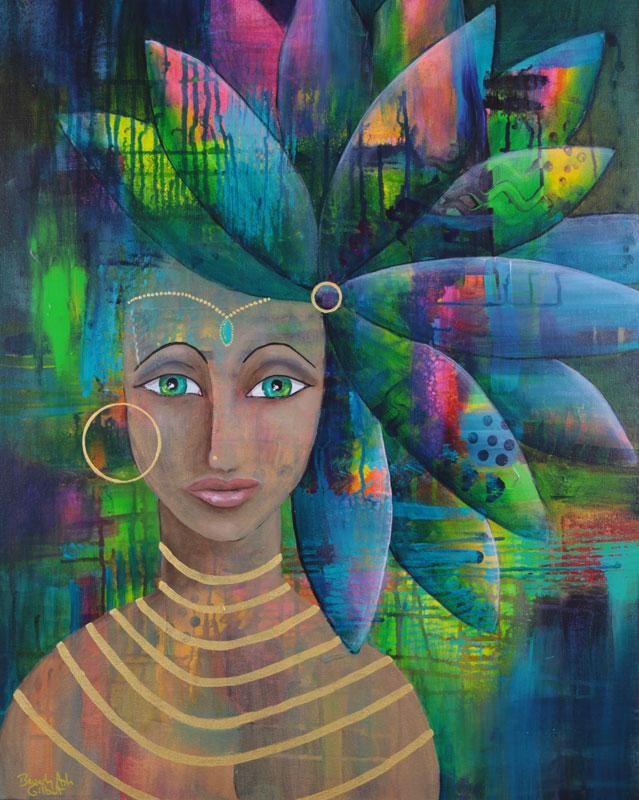 """'Goddess Inside Her' 30""""x24"""" Deep Canvas"""