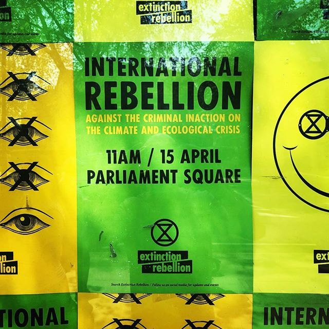 London belongs to @extinctionrebellion this week. It's #happening #climatechange #activism #change
