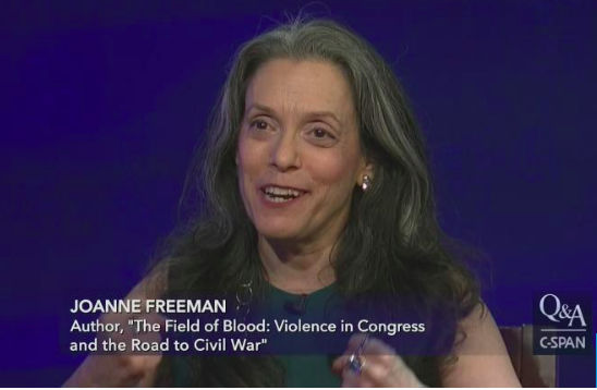 Q&A With Joanne Freeman on C-SPAN - October 7, 2018An interview with Brian Lamb about The Field of Blood, with shout-outs to Hamilton, Hamilton: An American Musical, and the podcast BackStory.Click to watch