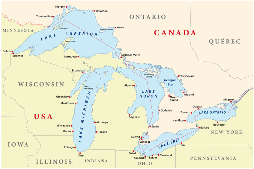 Fun Facts about the Great Lakes — Nautical Art & Paintings ...