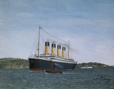 "R.M.S. Titanic - 1988 | Print edition: Lithograph | Size: 12 1/2'"" x 11"""