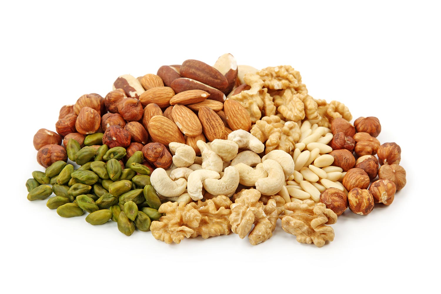 different types of nuts in paleo diet