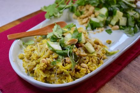 curried chicken and noodles