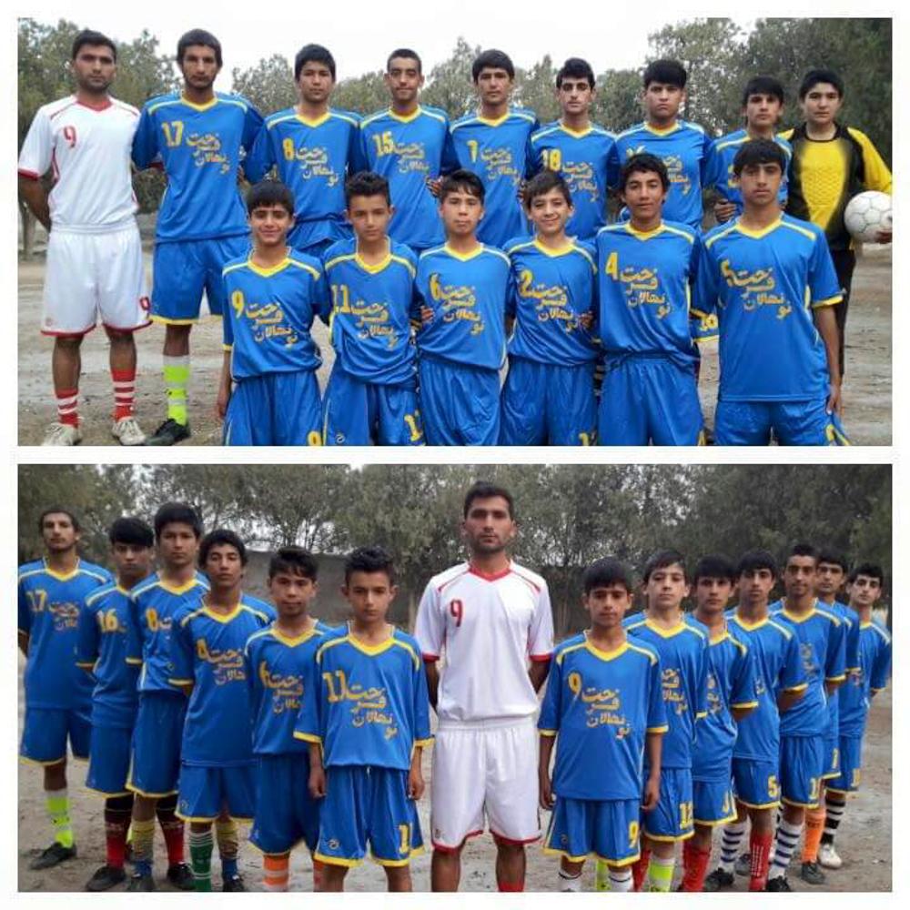 Die Fussballmannschaft, - die Mirzad in Afghanistan trainiert hat.