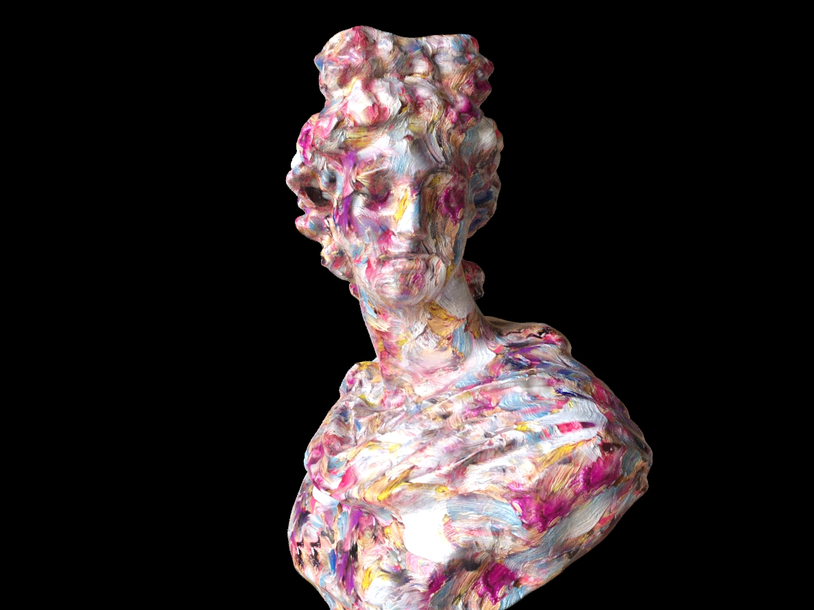 6 - Render Studio, Bust with Paint Strokes, (2019) CGI