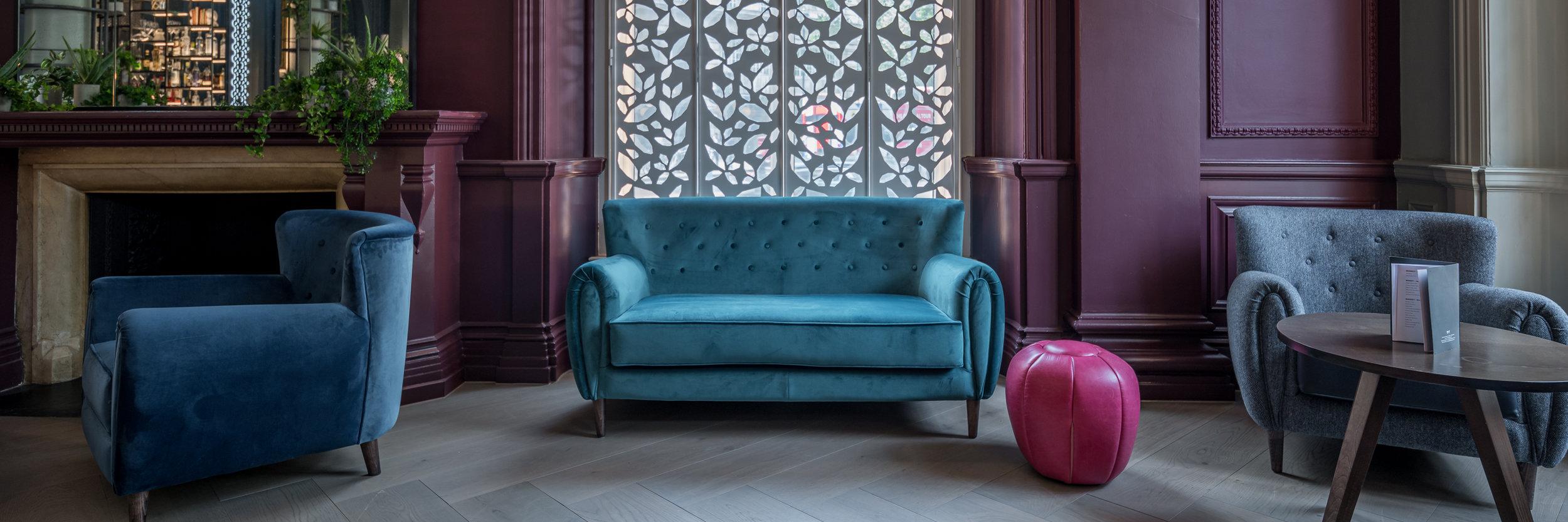 1 - Franklin & Franklin, Bespoke Armchairs, Sofa & Poufs, (2019)