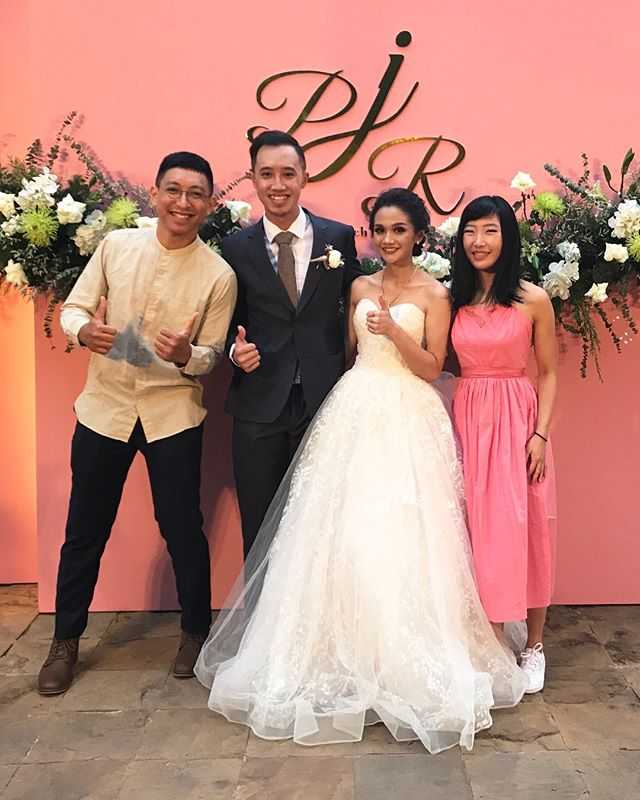 congratulations again to our genius talented drummer @teojiarong and his genius talented wife @paloyjaa — a match made in heaven, perfect for annoying each other for a lifetime. ♥️ wishing you both all the happiness in the world x