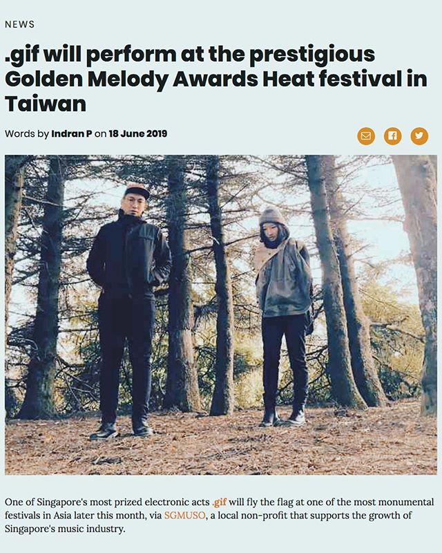 "We are performing at the Golden Melody Awards 🏆 金曲奖 in Taiwan next week!!! It's been touted the ""Grammys of Asia"", and we're freaking out about being red-carpet-ready 💄  We'll be joined by @teojiarong on drums, @timdecotta on bass, @blackbeardaudio on sound, and @musepoetica as our boss man / food guru. Y'all better have your tuxes ready ~ 🎩  Lots of love to the @2019_gma team for inviting us, and @sgmuso for supporting us through this trip! 🙏🏼"