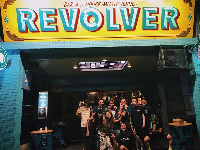 last night was magic, 谢谢大家抽出时间来跟我们一起party 🎉 ·  我们 2016年在 @revolvertaipei 与 @uta_bandtw 共享舞台 🙈 想不到三年后能够再次跟他们一起表演!U.TA, 你们真的太棒了,我们永远支持你!💪🏽 ·  非常感谢 @dancedandeath for taking such good care of us🙏🏼 please come to singapore sometime!!! · ♥️, @wweishh & @nnurudinn · · ·📷: a funny drunk dude who has a grrrreat eye (wish we knew his name)