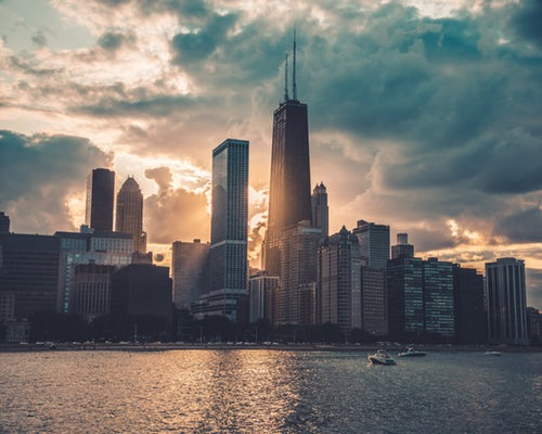 Chicago, the Windy City and home to the biggest Polish population outside of Warsaw, Poland. Photo source: Max Bender, Unsplash