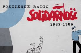 Solidarity, Solidarnosc in Polish, the social and political movement against Communism in Poland in the 1980s.