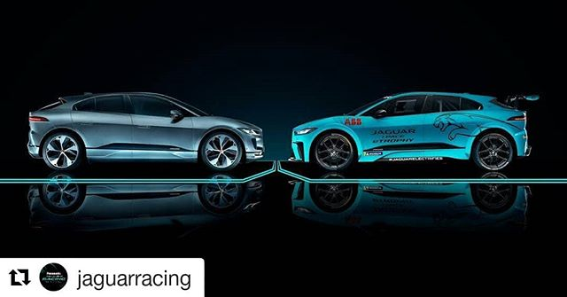 #Repost @jaguarracing (@get_repost) ・・・ Confrontational attitude of the powerful roaring @jaguar - @jaguaruk's cats: the Jaguar I-Pace and