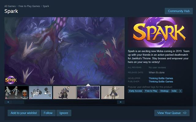 🎉 Great news! 🎉 Spark is on Steam! We're finally inching closer to a playable game! If you're excited for the game, go put it on your wishlist! 😄 https://store.steampowered.com/app/1079650/Spark/