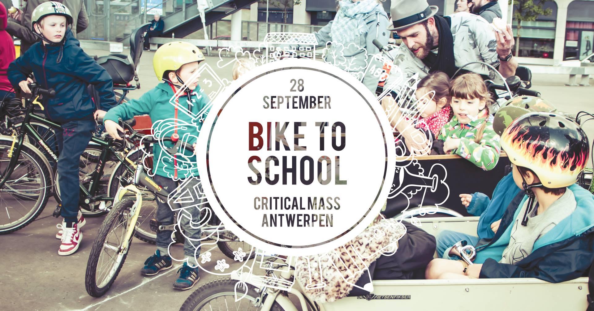 MOBILITEIT   Kom vaker met de fiets naar school   Een initiatief van CriticalMass Antwerpen