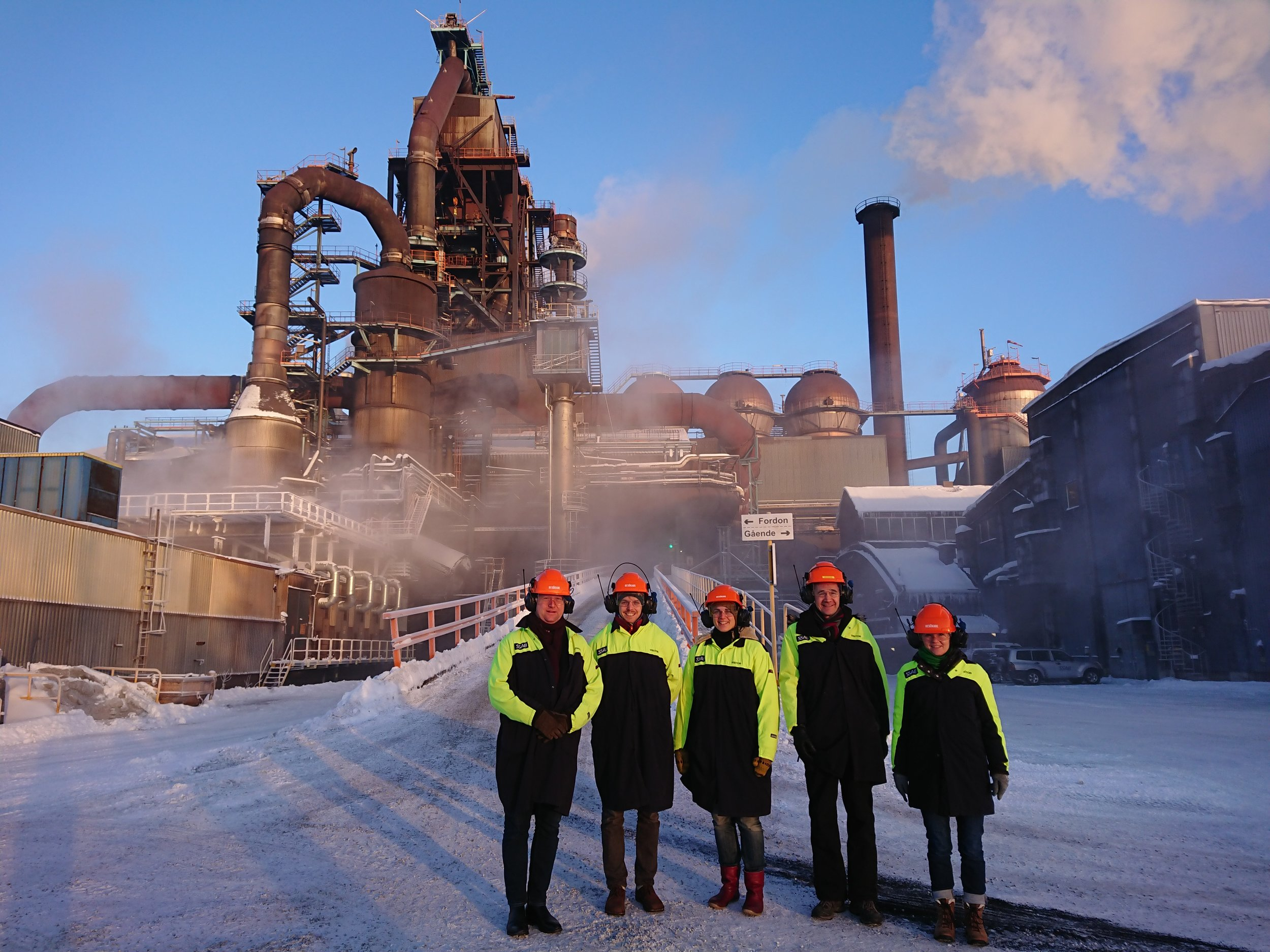 The last Swedish blast furnace, Luleå 2044    In 2042 this blast furnace was closed, marking the end of fossil steel production. A team of researchers were visiting to study the dismantling process.