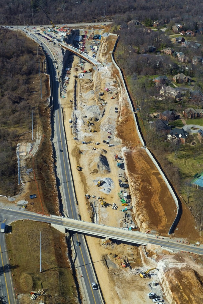 Construction continues along KY 841.