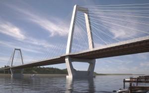 - East End Bridge from Kentucky shore