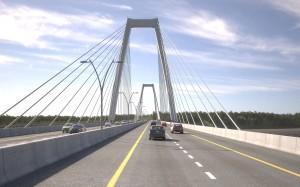 - East End Bridge motorists' view