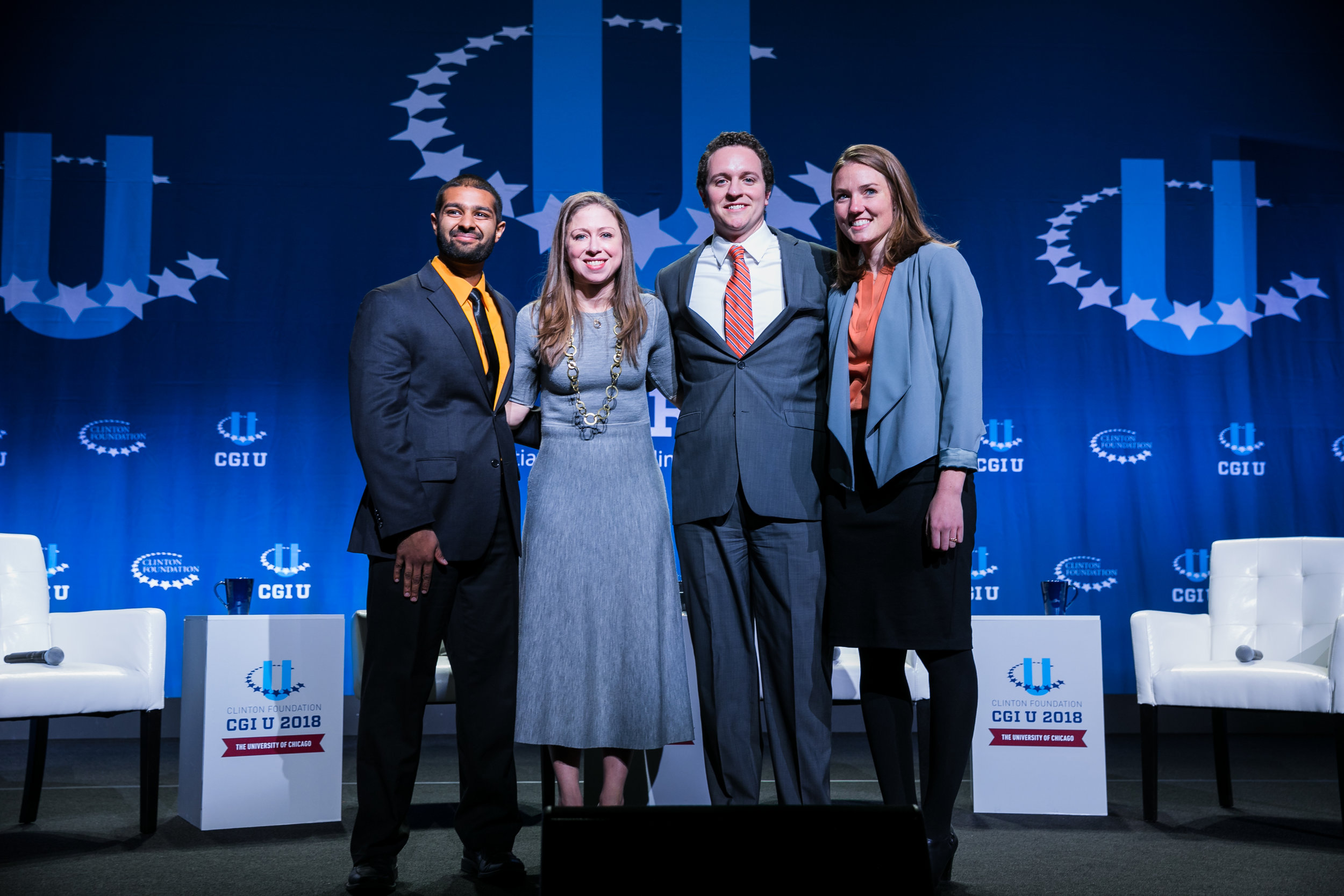 The Meaningfull Meals Team with Chelsea Clinton at a Clinton Global Initiative event