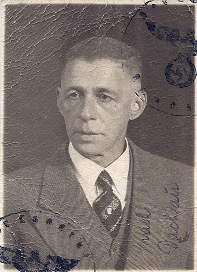 Nathan Wolf nach seiner Rückkehr aus dem KZ Dachau, 1938