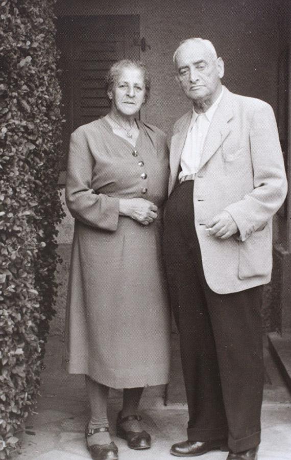 Eugenie und Josef Zivi in Wangen, nach ihrer Rückkehr aus dem Exil