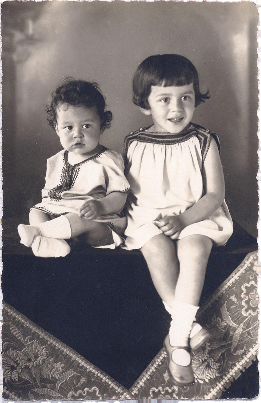 Hannelore und Gert Wolf, ca. 1929