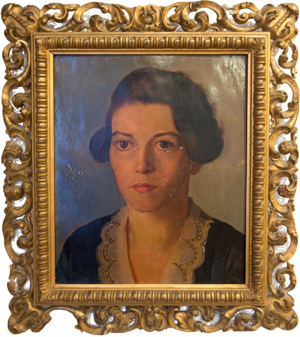 Eugen Segewitz, Portrait Auguste Wolf, 1930. Öl auf Holz