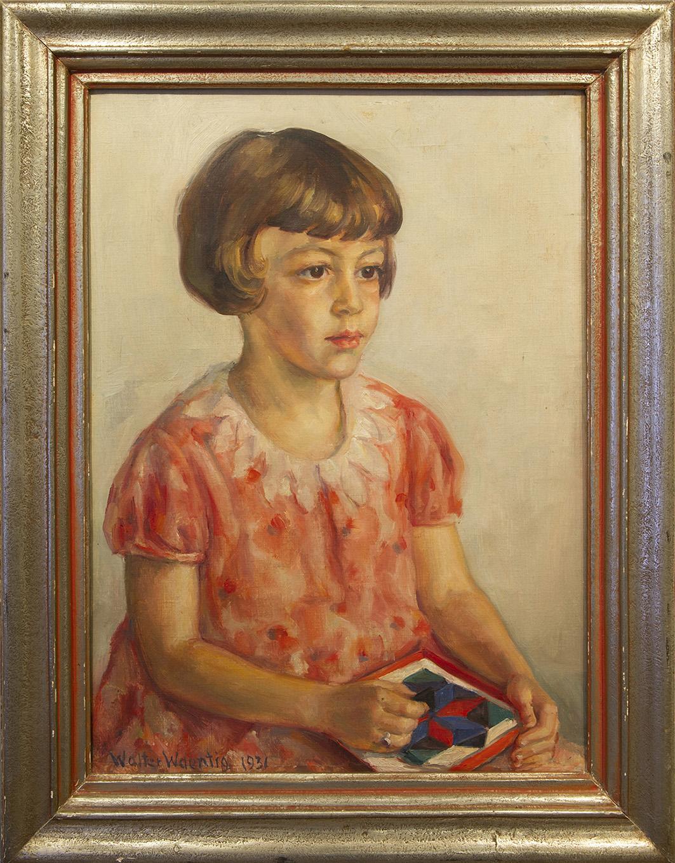 Walter Waentig, Portrait Hannelore Wolf, 1931. Öl auf Leinwand