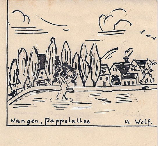 Zeichnung von Hannelore Wolf, 1938
