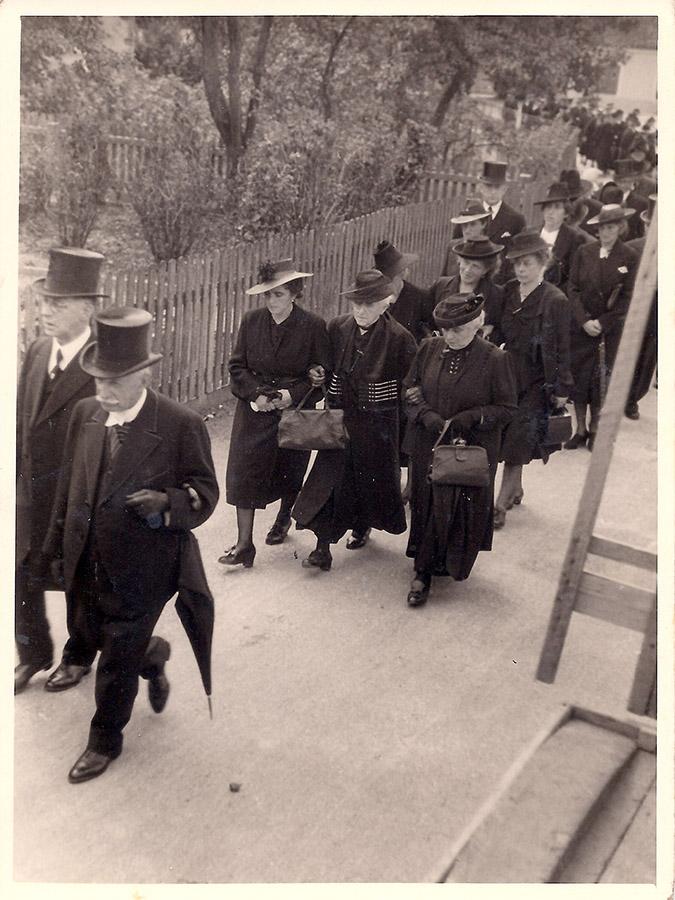 Begräbniszug für Nanette Wolf, August 1941