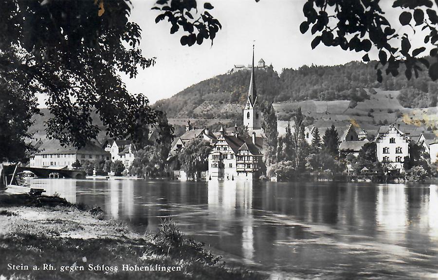 Stein am Rhein, Postkarte von 1940