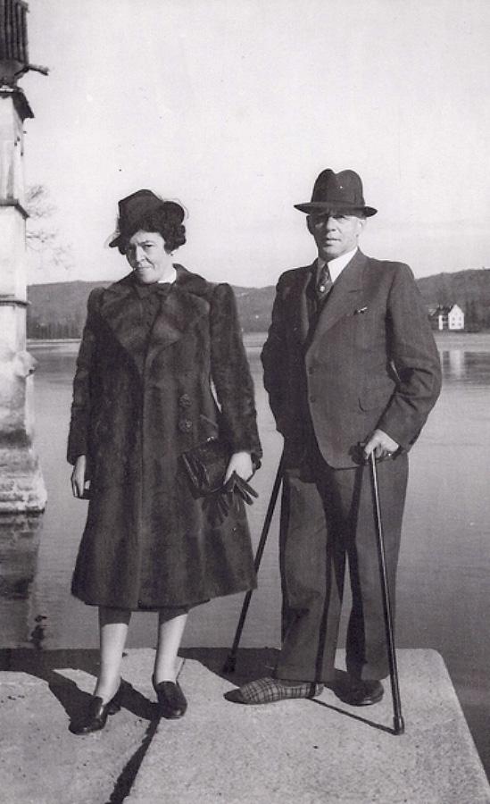 Nathan und Auguste Wolf in Stein am Rhein, April 1940