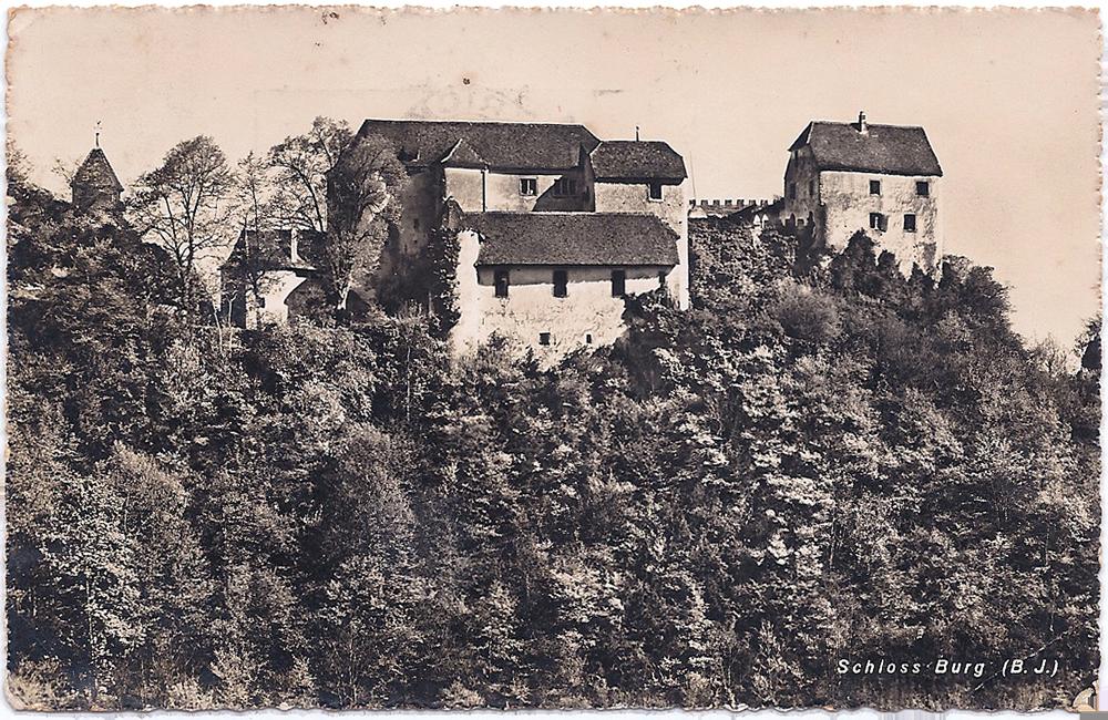 Interniertenheim Schloss Burg Postkarte Nathan Wolfs an seine Kinder vom 28. September 1943