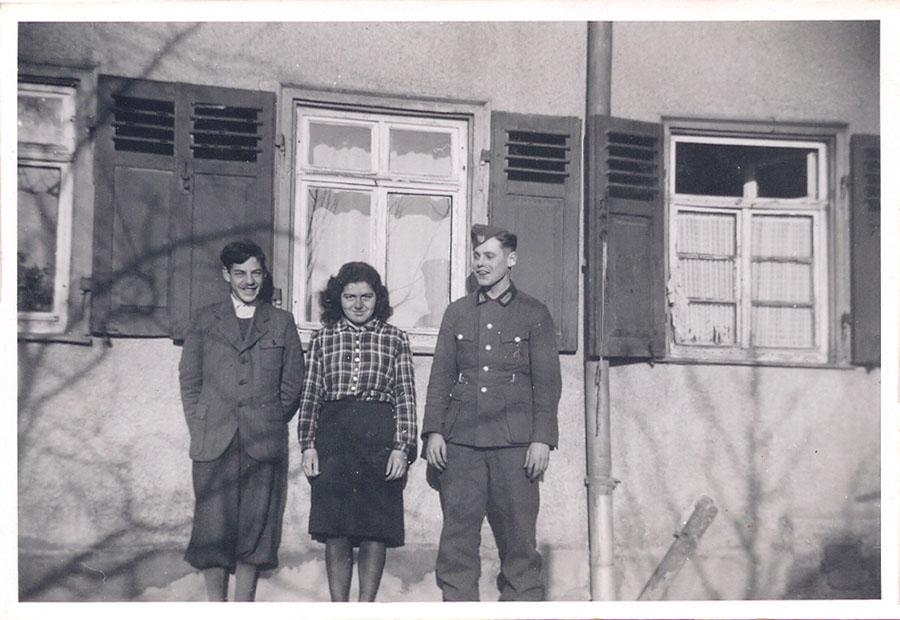 Gert und Hannelore Wolf mit Willi Ruoff