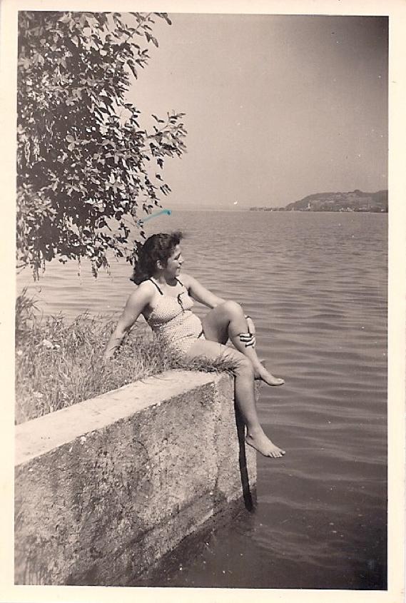 Beim Baden am Horn, Sommer 1945