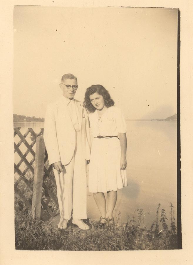 Vater und Tochter: Nathan und Hannelore Wolf am Horn
