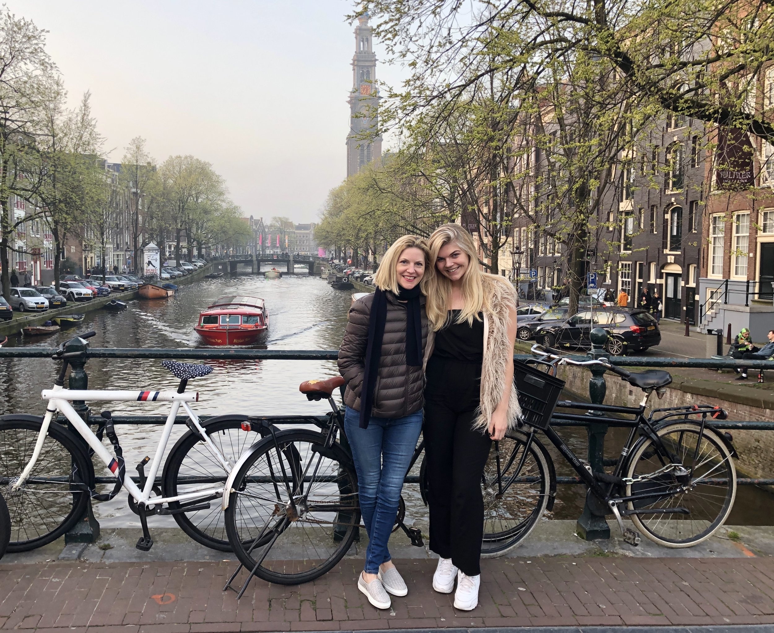 Haley & me on one of the MANY canal bridges. The Pulitzer Hotel and the Anne Frank House are both located in the area behind this bridge…